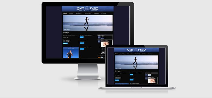 Website design and coding (html) for local fysiotherapy company OMT-Fysio - by Pennanen Design.