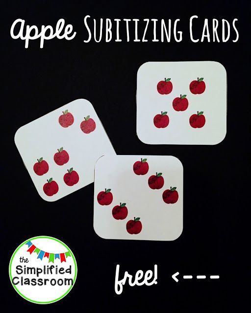 The Simplified Classroom: Apple Subitizing Cards