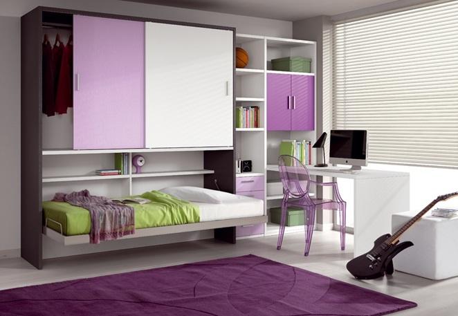 Dormitorios juveniles modernos peque os espacios - Dormitorios juveniles espacios pequenos ...