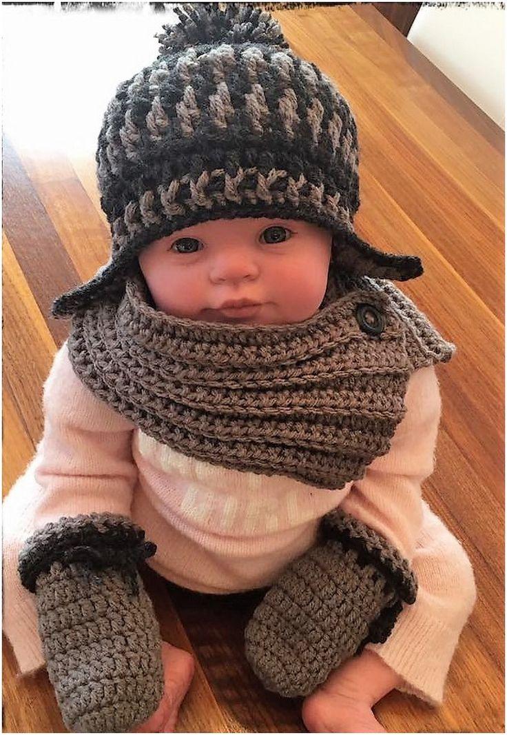 crocheted baby set 7