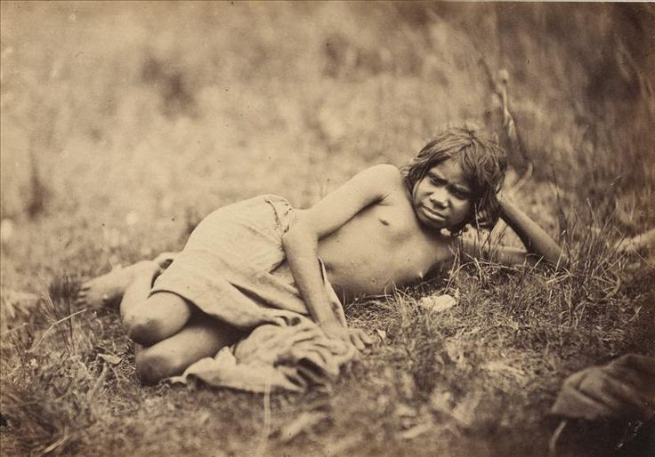 Young Aboriginal girl not tattood i.e. tattooed [ca. 1858]. This image was taken by Antoine Fauchery and Richard Daintree between late 1857 and early 1859 for inclusion in their Photographic Series Sun Pictures of Victoria.