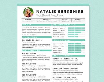 Blue Dental Assistant Resume Cover Letter & by JannaLynnCreative