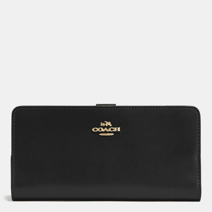 COACH Coach Skinny Wallet In Refined Calf Leather