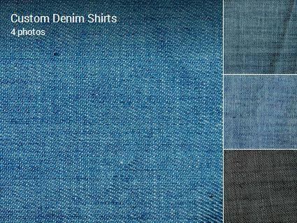 Custom Denim shirts now available