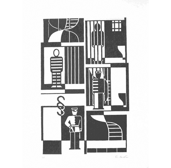Gerd Arntz (1900 - 1988), Gefaengnis, Courtesy Between Bridges, http://www.thisistomorrow.info/viewArticle.aspx?artId=508=Gerd%20Arntz:%20(1900%20-%201988)%20and%20Isotype