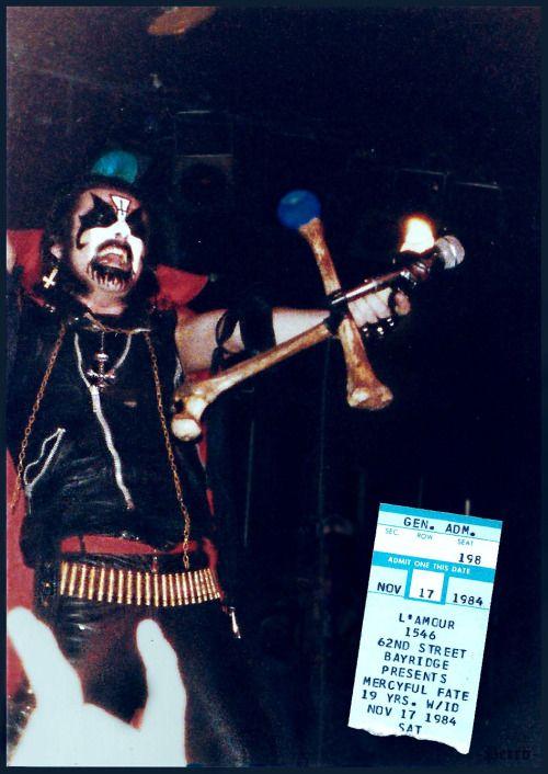 King Diamond (From Mercyful Fate)  At L'amour (Lamorz), Brooklyn, NY  November 17th 1984