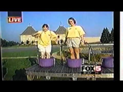 Grape stomping contest - FAIL.  Volume necessary - poor lady!!