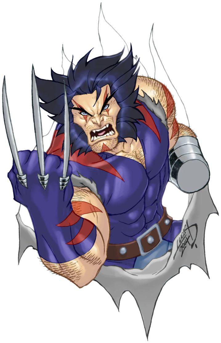 Wolverine Age of Apocalypse version (Weapon X), drawn and colored by Lucas Ackerman