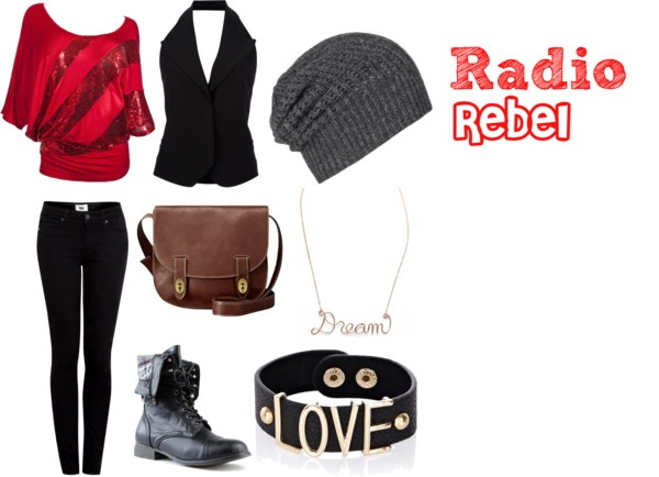 """Radio Rebels Outfit"" by bayleeannclark ❤ liked on Polyvore"