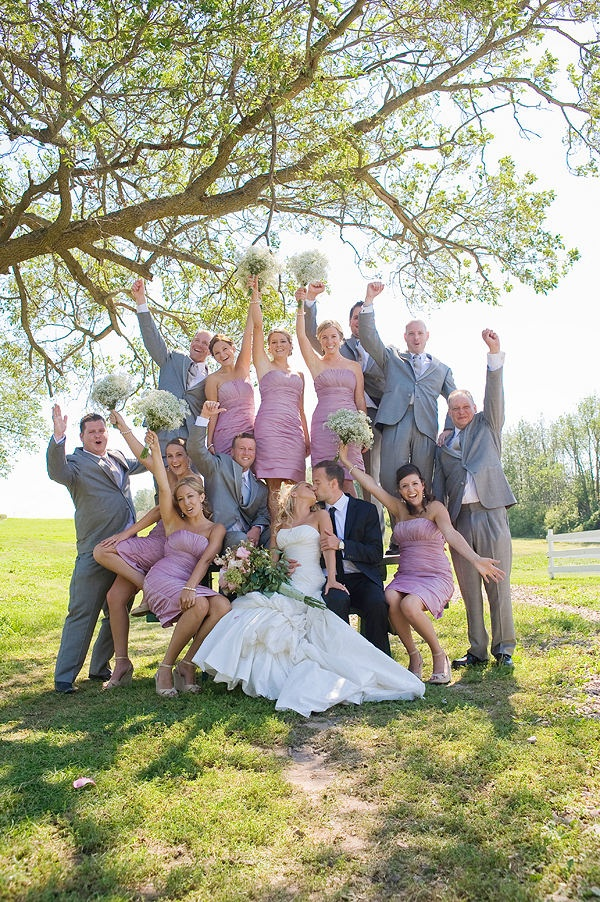 fun wedding party picture