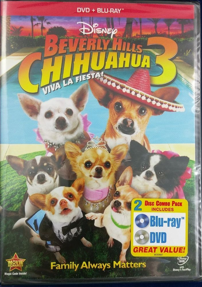 Brand New Beverly Hills Chihuahua 3 Viva La Fiesta Blu Ray Dvd 2 Disc Set Disneyoriginalmovie