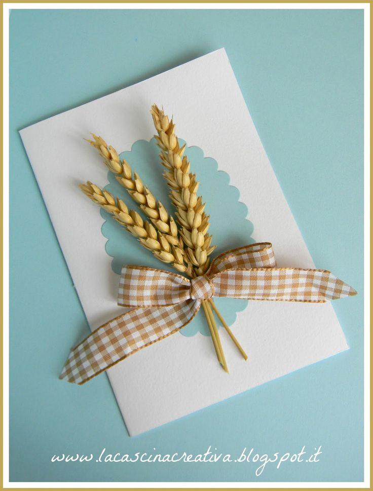 la cascina creativa: Prima Comunione - tre spighe di grano