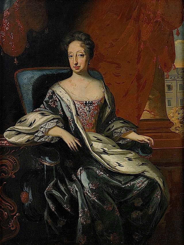 Hedvig Eleonora av Holstein-Gottorp by David von Krafft. She ruled Sweden in the absence of her husband, Charles X, and acted as regent while her son was a boy.