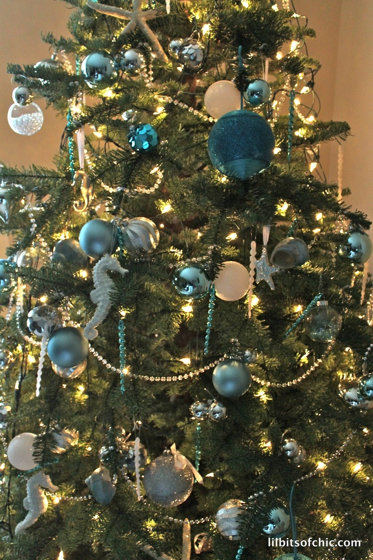 ocean themed christmas tree - Beach Themed Christmas Trees