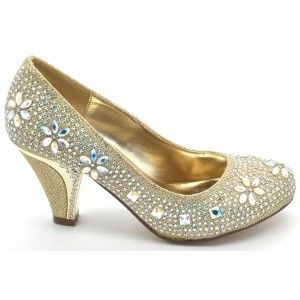 Wholesale Mid Heel Embellished Shoes for Ladies - Wilfordshoes
