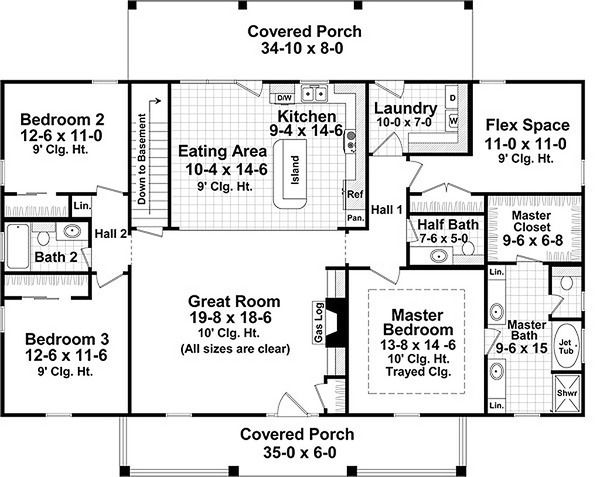 Country Style House Plan 3 Beds 2 5 Baths 1951 Sq Ft Plan 21 369 Country Style House Plans House Plan Gallery House Plans One Story