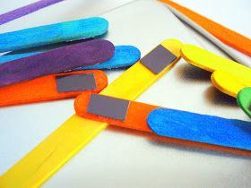 the journals of a Laura Ingalls wannabe: Magnetic Colored Popsicle / Craft Sticks