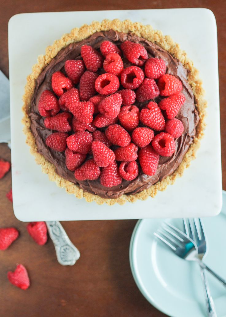 ... ganache topped with fresh raspberries! It's naturally gluten free
