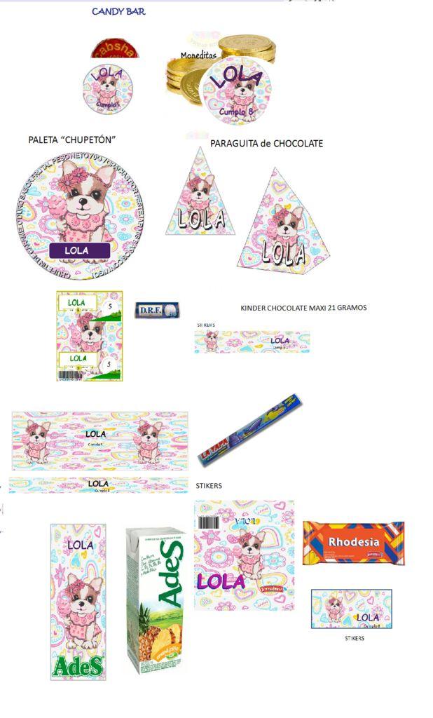 Kit Imprimible Perros Simones + Candy Bar - $ 19,99