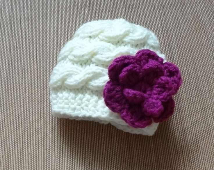 Baby Hat Baby Girl Hat Newborn Hat Photo Prop Baby Knit by Ifonka, $18.00