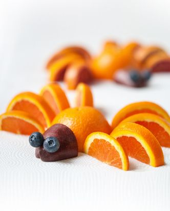 """Fun! Creepy Crawler Fruit Recipe""    A great snack for after a soccer game to make sure your children are getting all their vitamins and minerals"