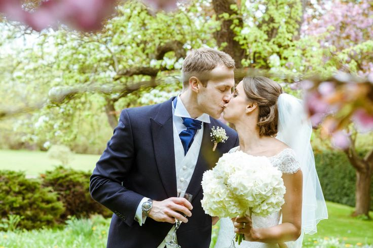A lovely moment between this happily married couple, just after their #wedding
