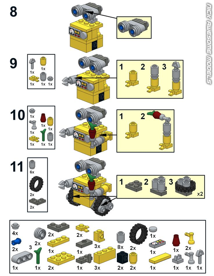 lego blueprints Wall-e - Google Search
