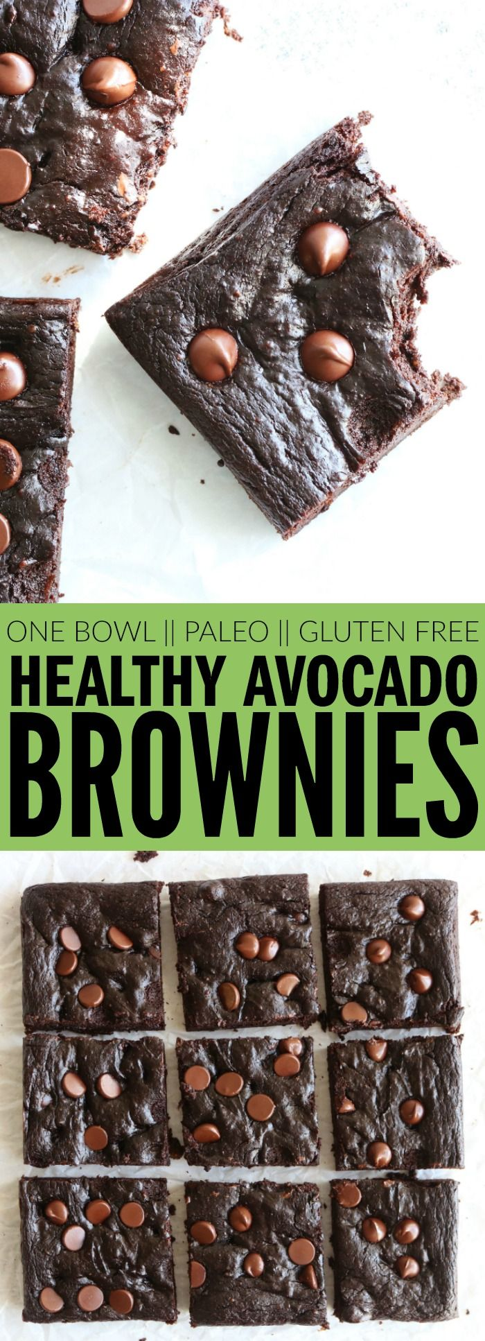 I can't wait for you to try these paleo and gluten free Healthy Avocado Brownies!! They're so moist and fudgey, rich and chocolatey! They're the perfect decadent dessert recipe you can feel good about! thetoastedpinenut.com #paleo #glutenfree #healthy #avocado #brownies #dessert #kidfriendly
