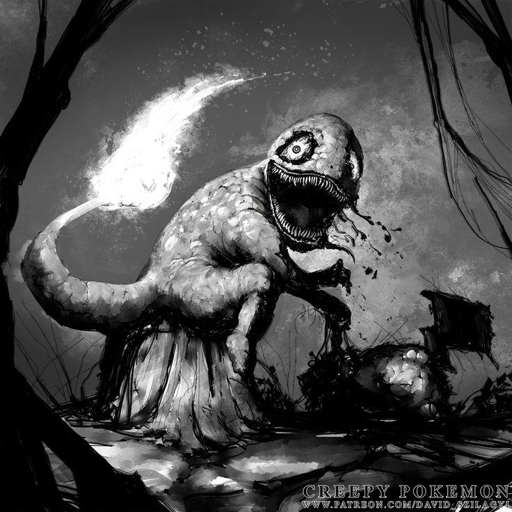 Creepy Pokemon: 004 Charmander [David Szilagyi 2016]