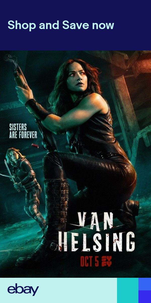"Van Helsing Season 3 TV Series Poster Art Print 13x20/"" 24x36/"" 27x40/"""