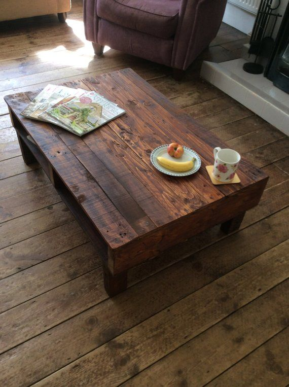 This Handmade Coffee Table Has Been Made From Reclaimed Pallet