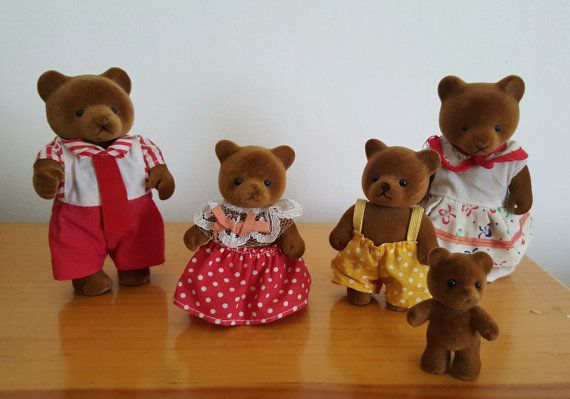 Sylvanian families family of bears by TochtliMeztli on Etsy