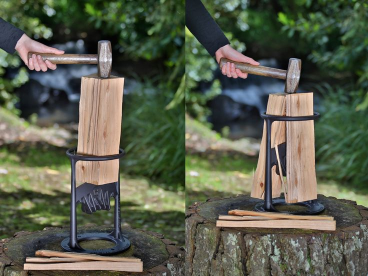 Splitting firewood has never been easier. Safe, Fun and Easy! The Kindling Cracker can be used by all, both young and old. Check it out!