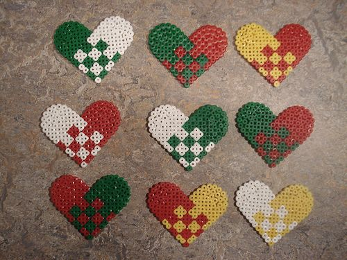 Heart Christmas ornament hama perler beads by Edvind Medvind