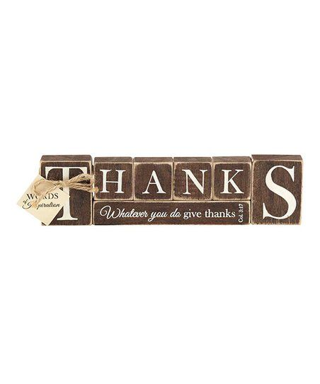 7-Pc. Col. 3:17 Letter Block Sign Set | zulily