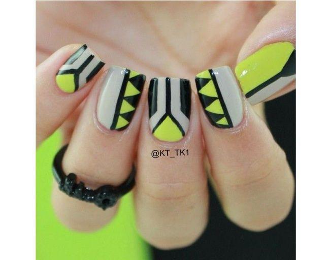 Azteckie wzorki na paznokcie - odświeżamy trend na lato - Strona 10