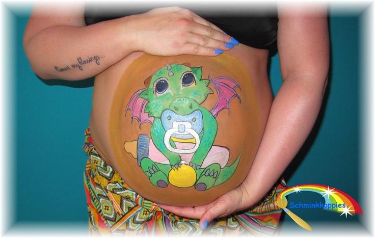 Bellypaint draakje/Bellypaint baby dragon