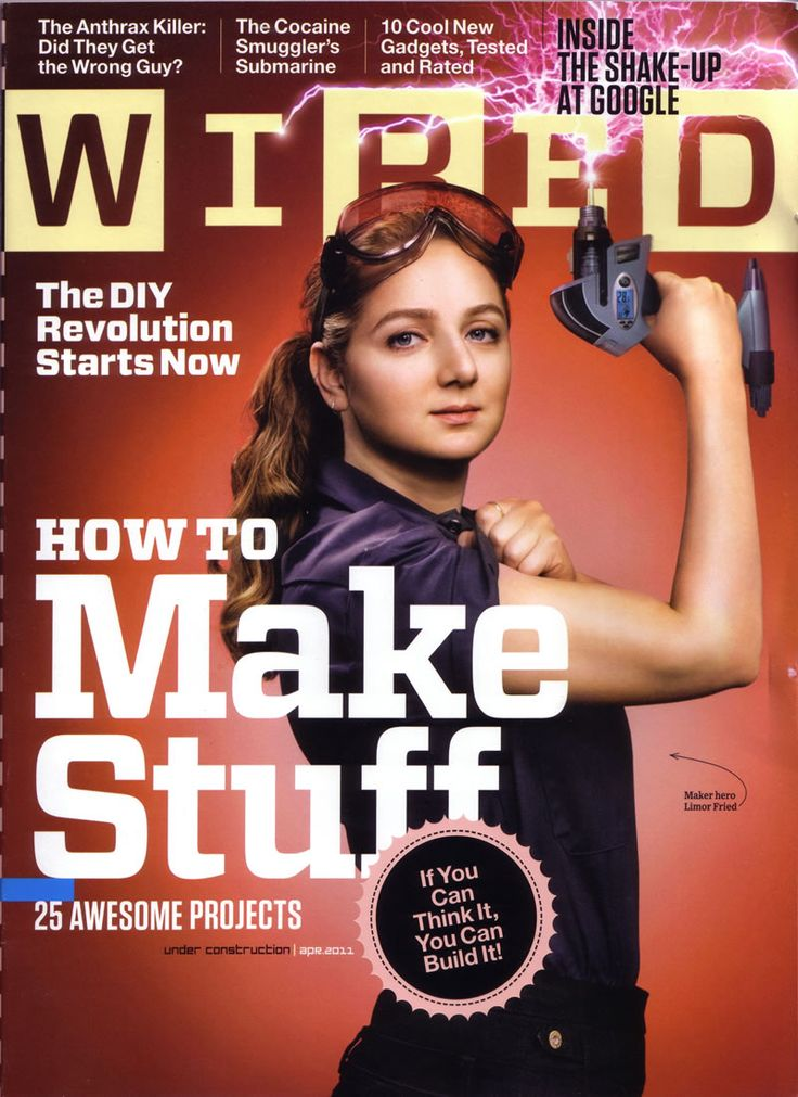 """Limor """"Ladyada"""" Fried: the first woman engineer to be featured on the cover of WIRED Magazine!"""