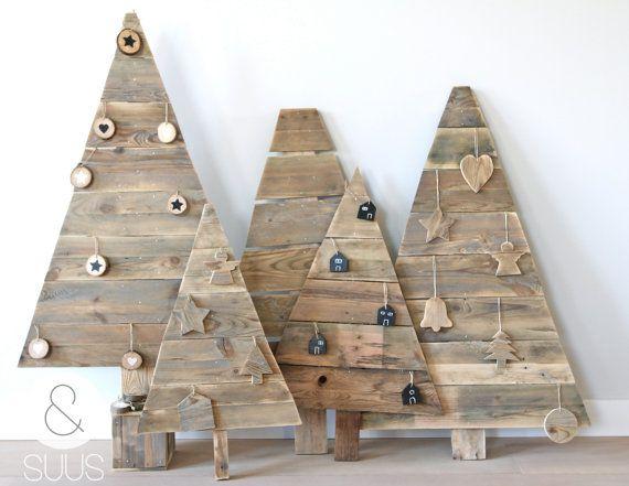Handgemaakte houten kerstboom 68 cm by ensuus on Etsy, €34.95