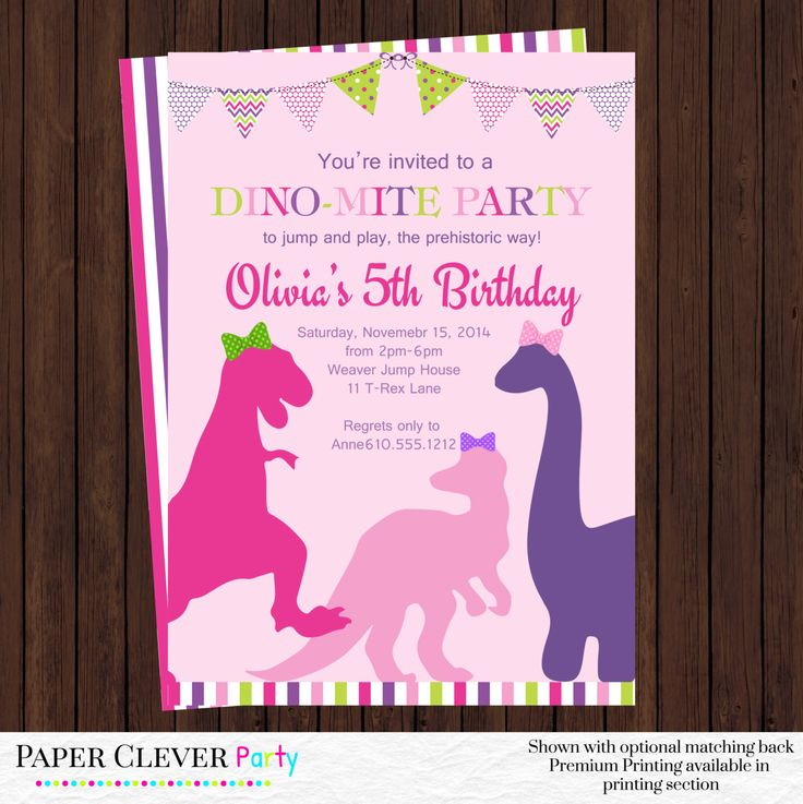 25 best ideas about Dinosaur party invitations – Clever Party Invitations