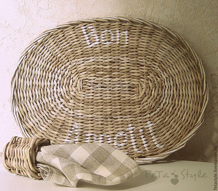 """Купить Подставки плетеные овальные сервировочные """"Bon Appetit"""" - кухня, кухонный интерьер"""