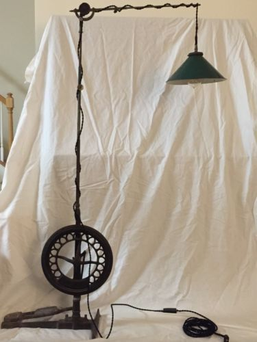 industrial dental drill floor lamp antique cast iron