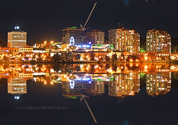 barrie ontario downtown reflection