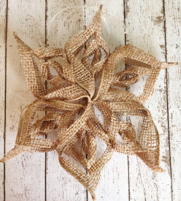 Burlap Snowflake Ornament Crafty 2 The Core Diy Galore