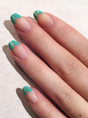 manicure verde