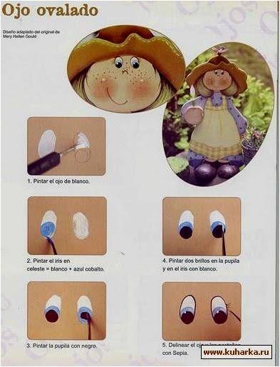 MUÑECOS: curso para aprender a pintar ojos                                                                                                                                                                                 Más