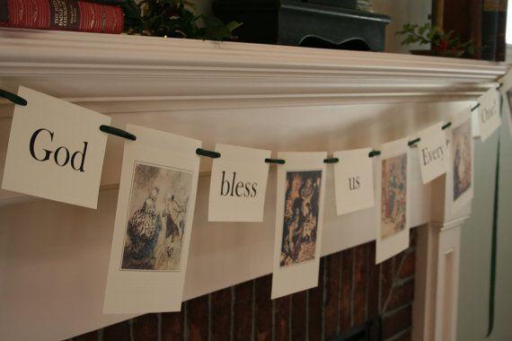 Dickens Christmas Garland/Banner  Christmas by WonderfulLifeFarm, $20.00