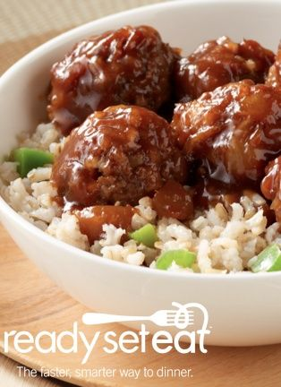 Hawaiian Meatballs and Rice... A fun Hawaiian style recipe that is sure to be a family favorite! Made with ground round beef, serve this dish with a side of vegetables or a salad.
