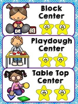 This classroom management freebie includes:Center Management: Center Management for centers designed for Preschool and Kindergarten with a star to represent how many children are allowed in each center. Daily ScheduleHelpers: 21 Different Job AssignmentsYou can check out my blog to see how I use this in my classroom! :) Classroom Management!