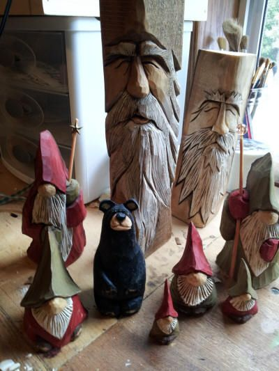 Images about walking sticks and carvings on